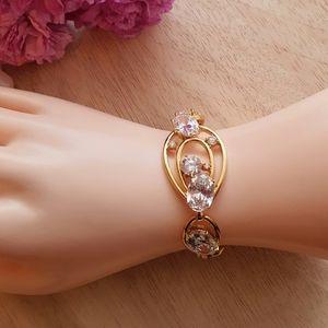 """Scandalous"" Gold Swarovski Crystal Bracelet"